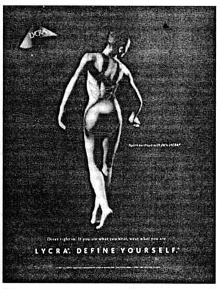Реклама от «Du Pont» волокон Lycra